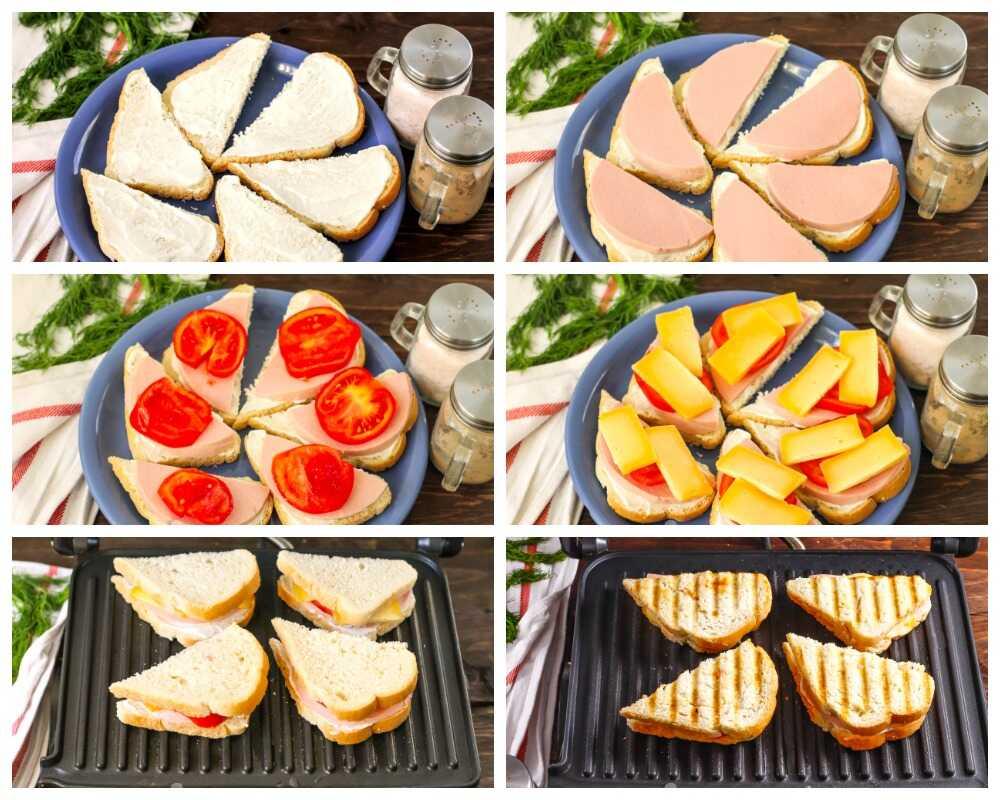 Алгоритм приготовления бутербродов на гриле