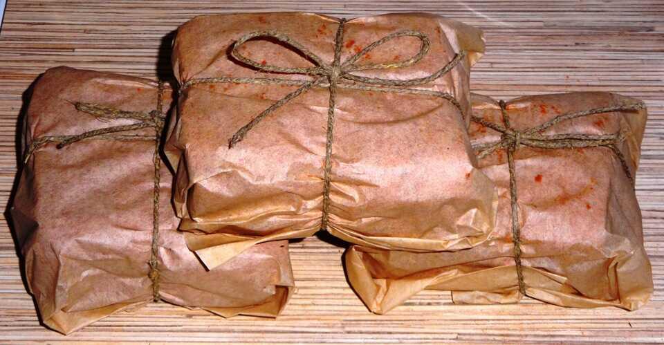 Баранина, завернутая в пергамент