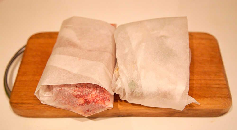 Хранение щековины в пищевой бумаге
