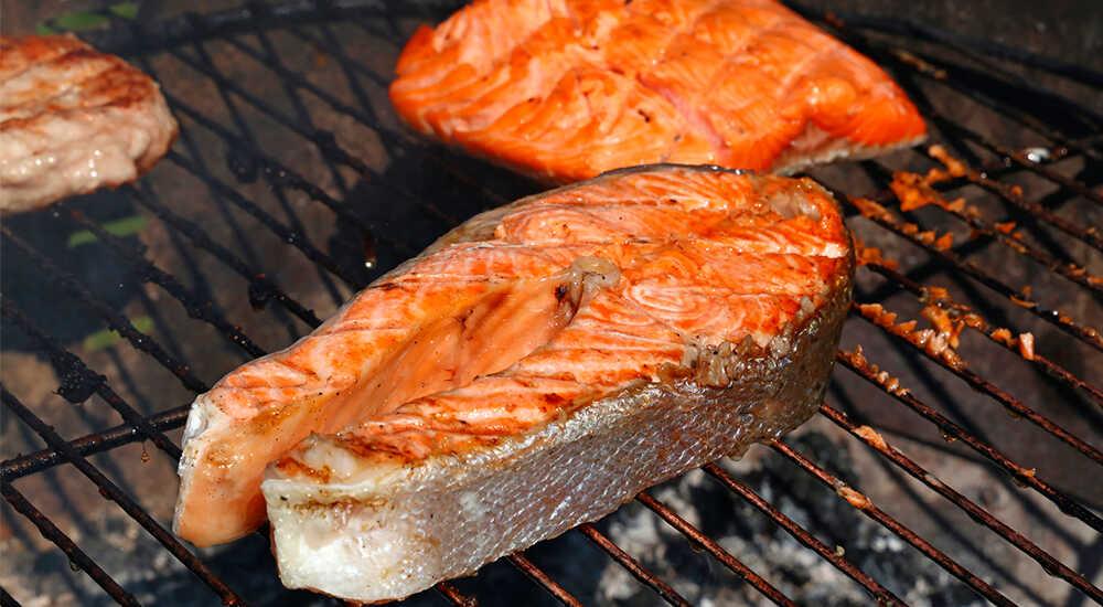 Как приготовить красную рыбу на гриле