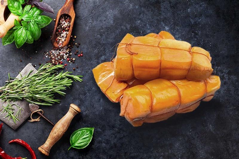 Кальмар, приготовленный горячим копчением