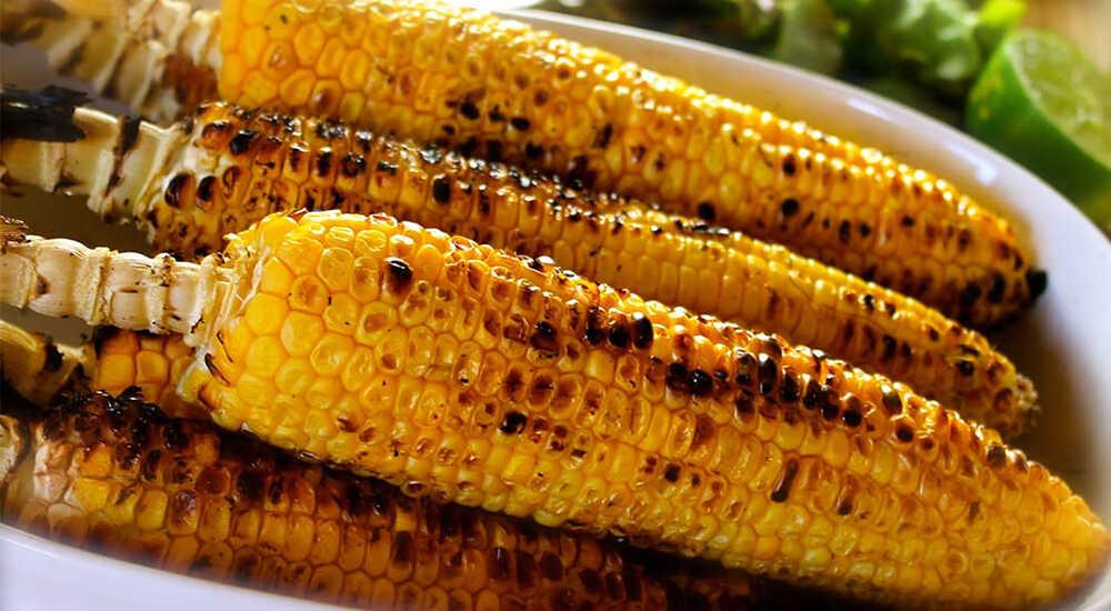 Кукуруза на гриле в соевом соусе