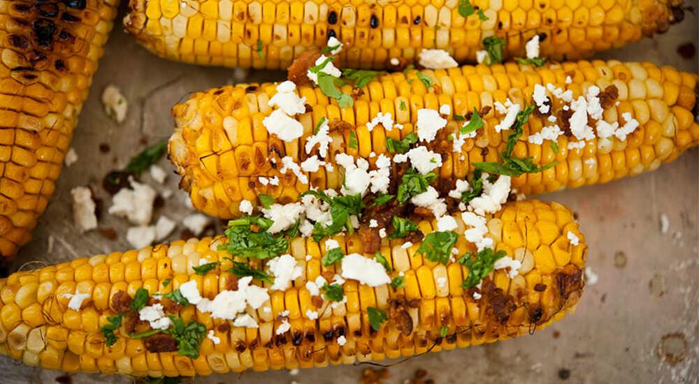 Кукуруза с беконом и сыром