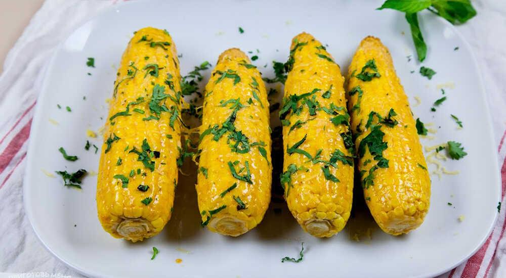 Кукуруза с копчёным сыром