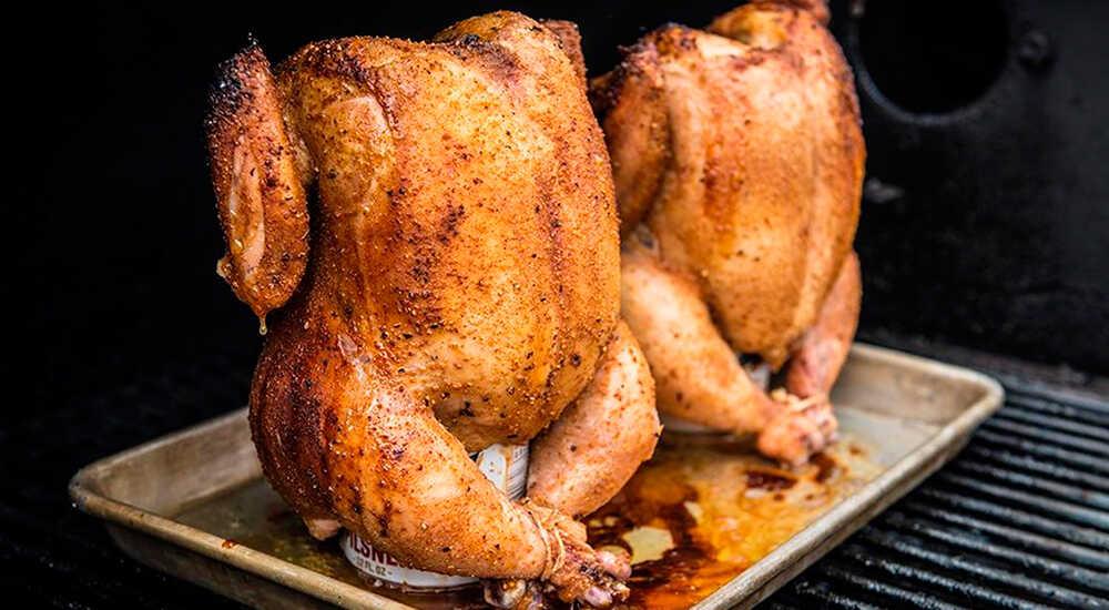Курица-гриль на банке