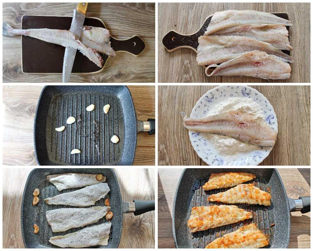 Пошаговое приготовление филе минтая на сковороде-гриль