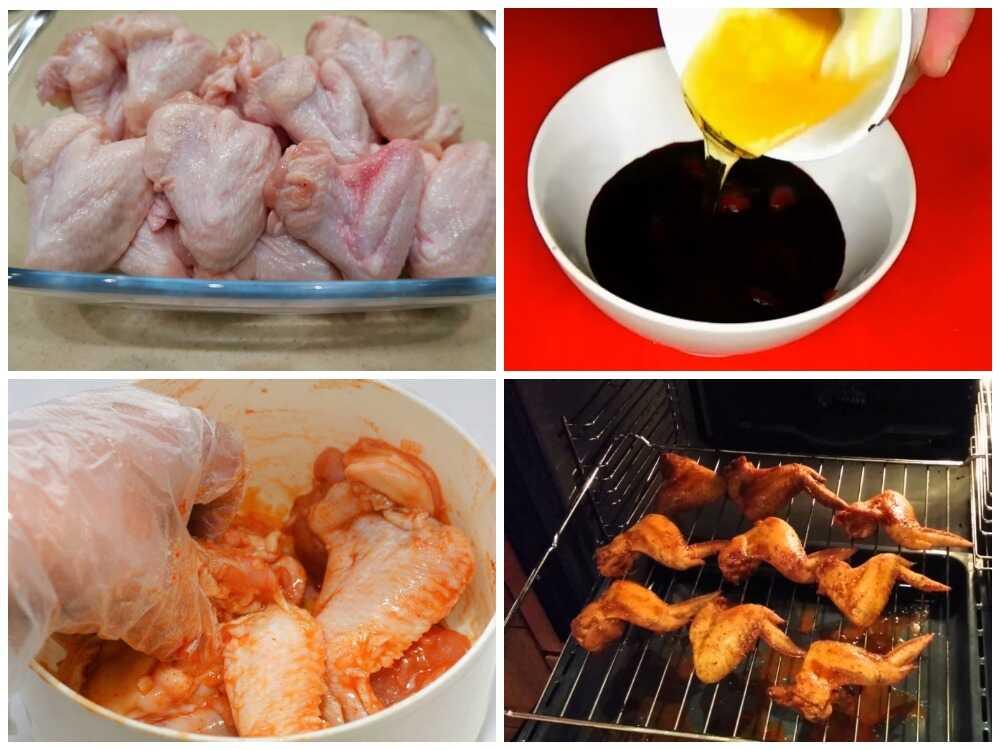 Пошаговое приготовление крылышек-гриль в духовке