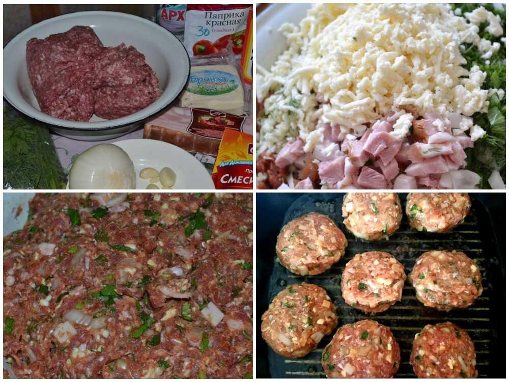 Пошаговое приготовление сербских котлеты «Уштипцы» на сковороде-гриль