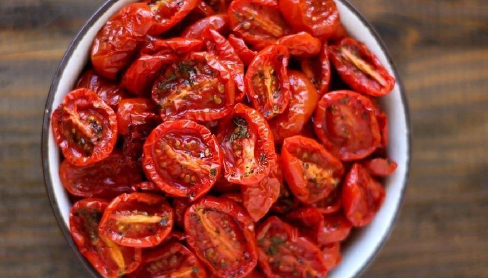 Готовые копчёные помидоры