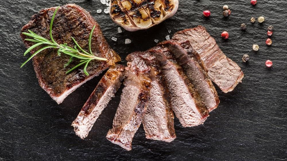 Готовый стейк Рибай из говядины