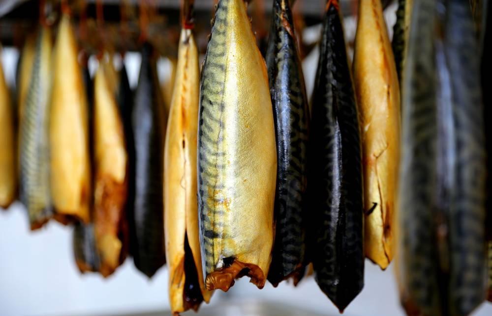 Копчёная рыба на балконе