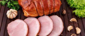 Копчёная свинина на столе