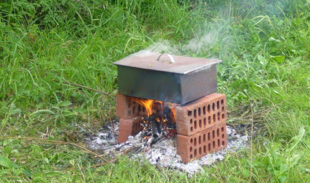 Коптильня горячего копчения для плотвы