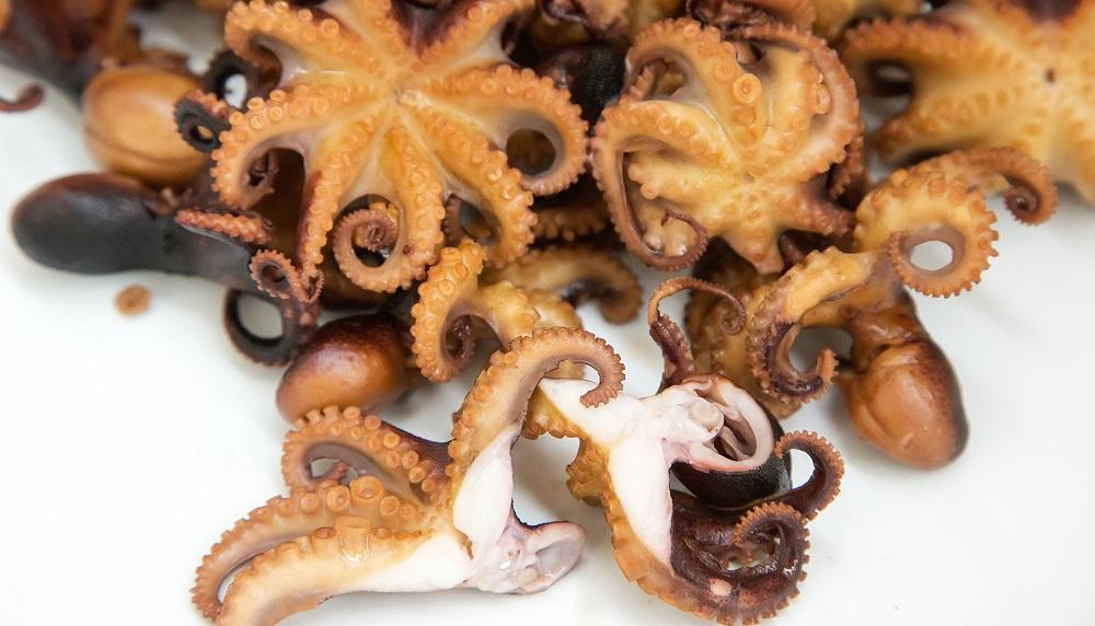 Маленькие копчёные осьминоги