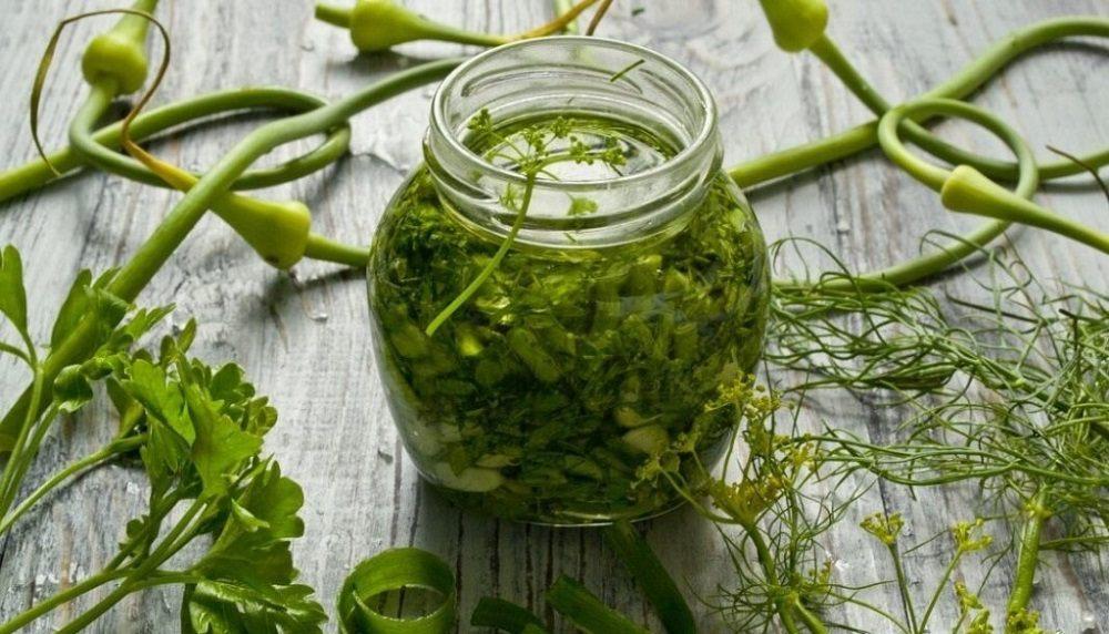 Маринад с чесноком и зеленью