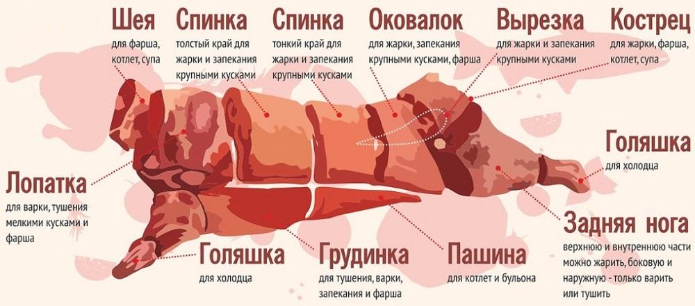 Названия частей свиньи