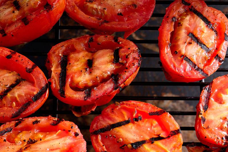 приготовления помидоров на гриле