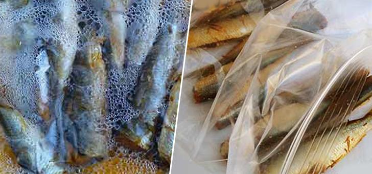 Салака в пищевом пакете