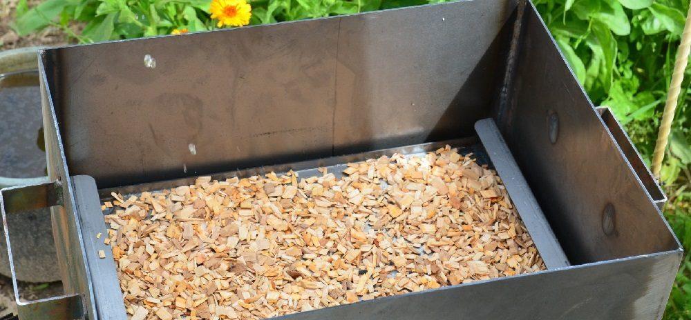 Щепа для грибов в коптильне