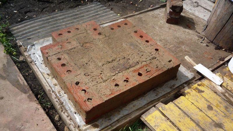 Фундамент горячей коптильни