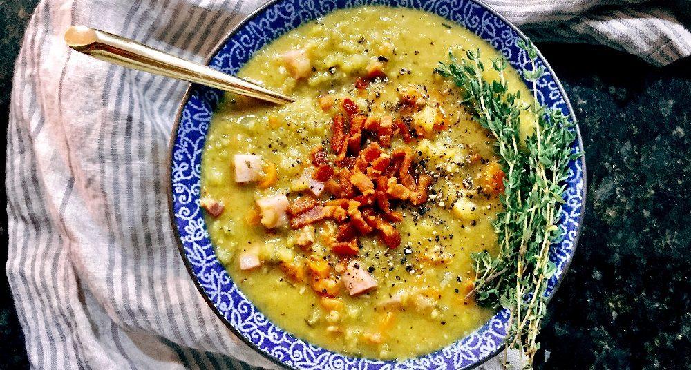 Гороховый суп с копчёным беконом