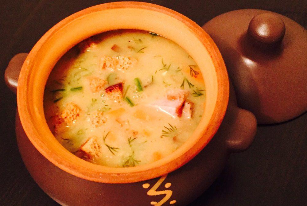 Гороховый суп в горшочке