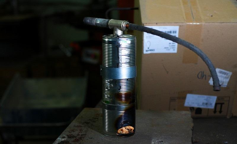 Готовый дымогенератор из банок
