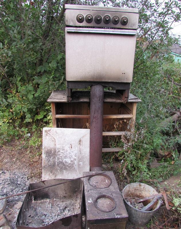 Холодная коптильня из газовой плиты