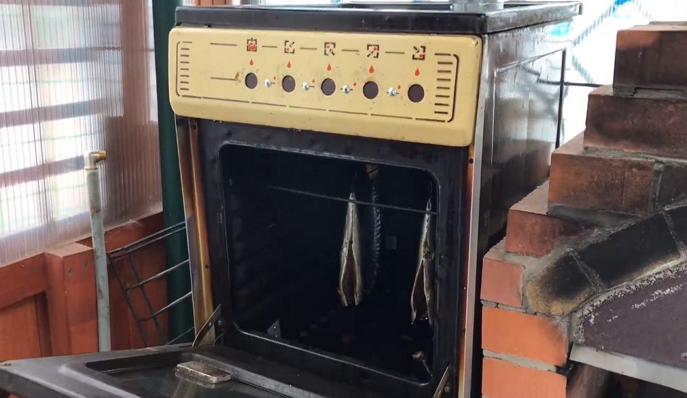 Копчение рыбы в газовой плите