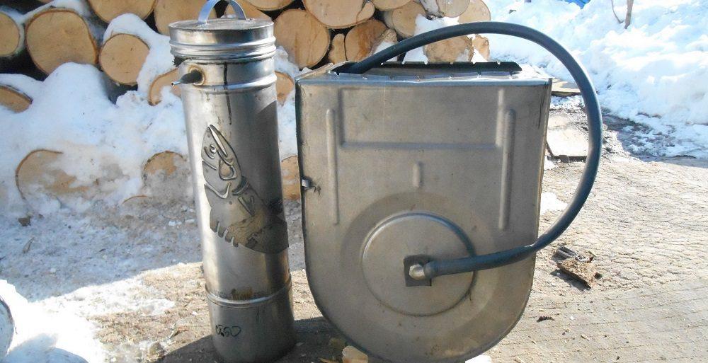 Коптильня из стиралки с дымогенератором