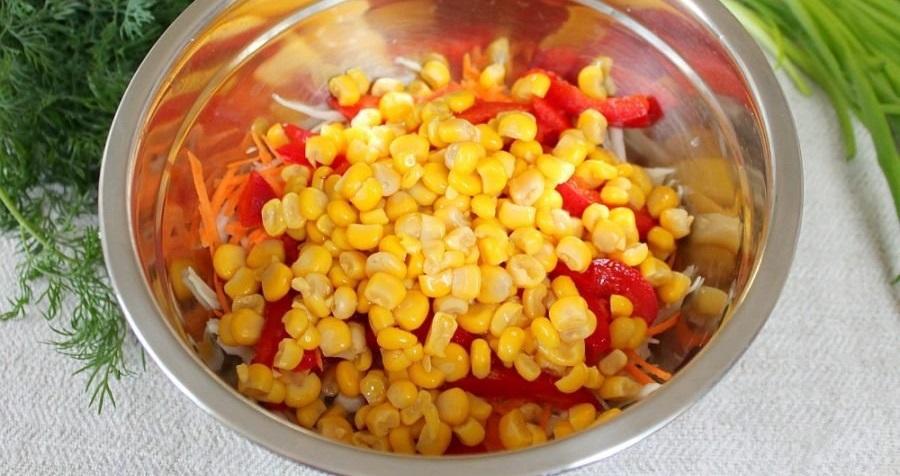 Кукуруза и болгарский перец
