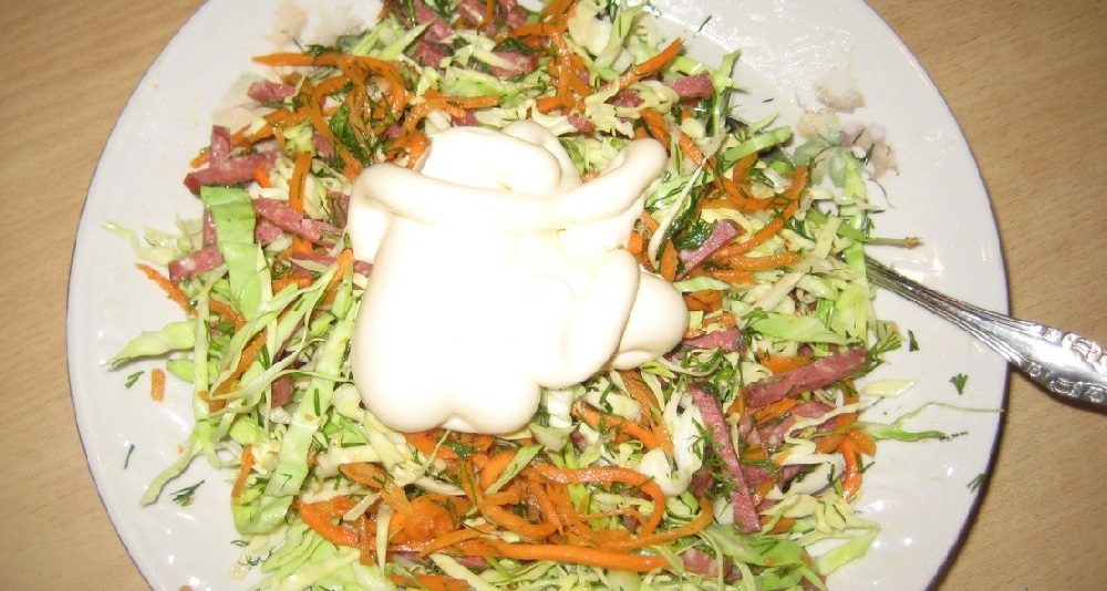Майонез для салата из капусты и моркови