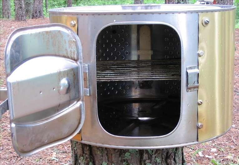 Мини-коптильня из стиральной машины