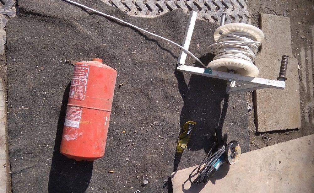 Огнетушитель для дымогенератора