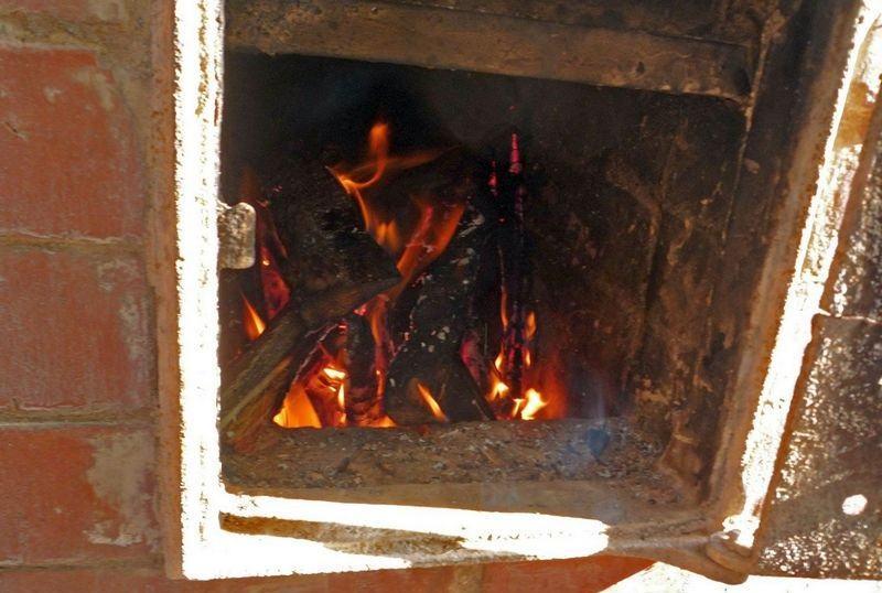 Огонь в коптильне