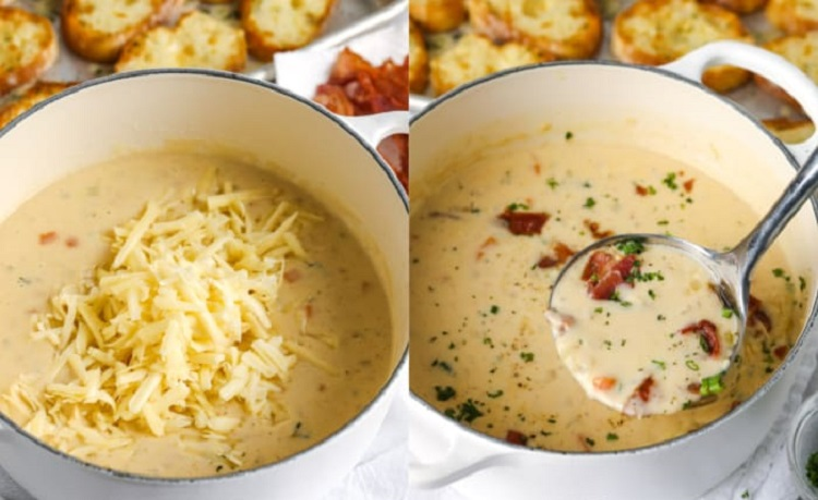 Чеддер в суп-пюре