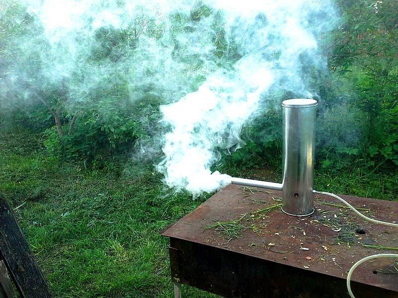 Дымогенератор с компрессором