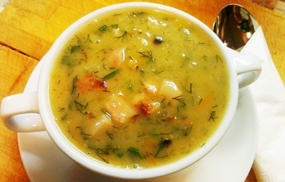 Гороховый суп с беконом из мультиварки