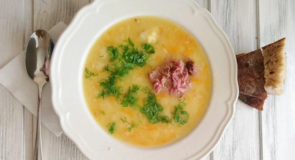 Гороховый суп с копчёными окорочками