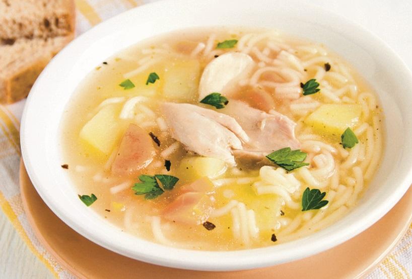 Гороховый суп с вермишелью
