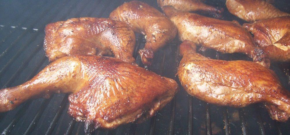 Горячее копчение куриных окорочков
