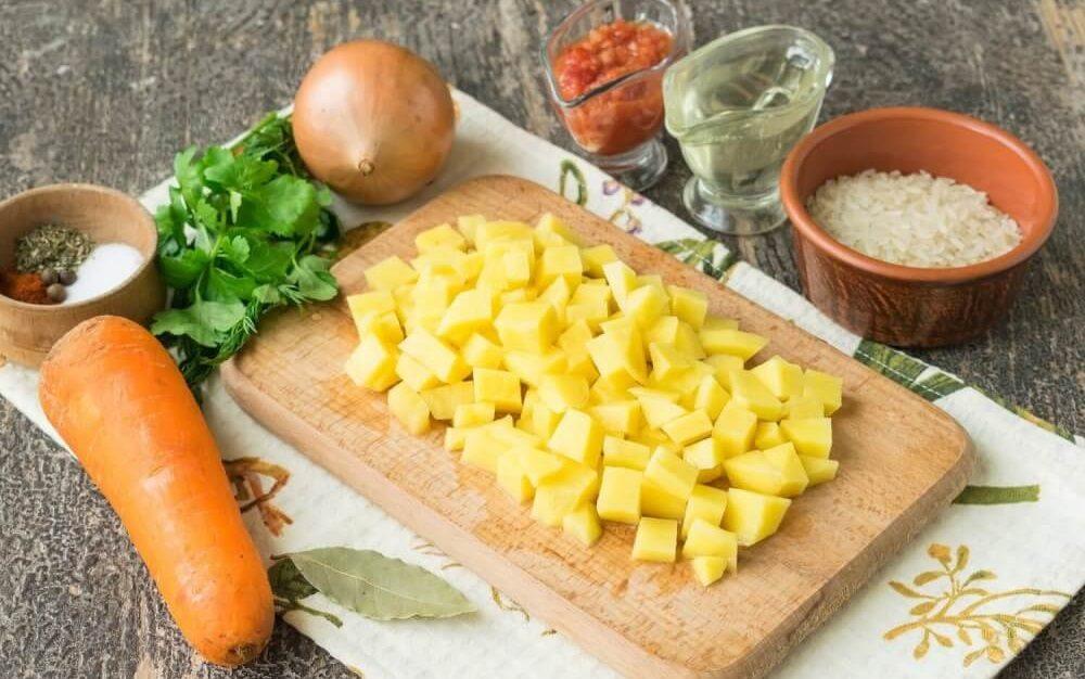 Картофель для солянки с рисом