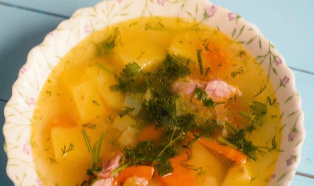 Классический гороховый суп с рулькой