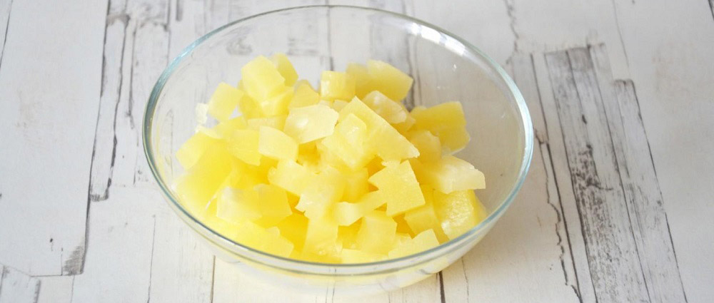 Консервированный ананас для классического салата