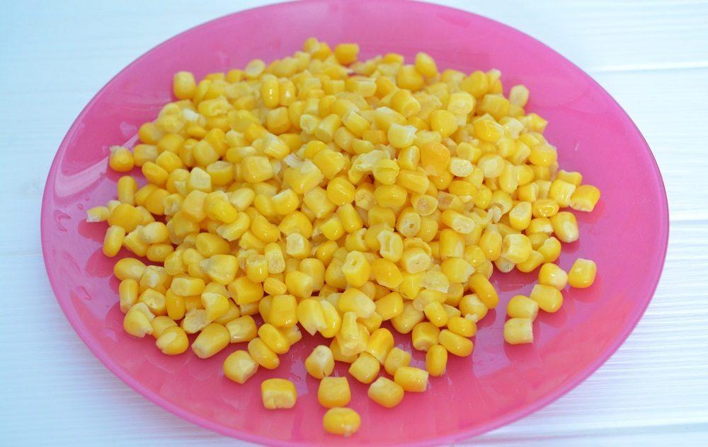 Кукуруза для салата с ананасами