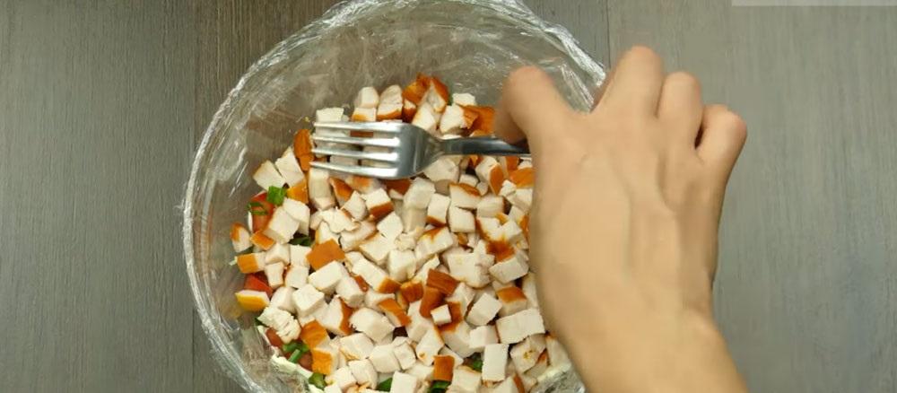 Куриный слой салата «Минутка»