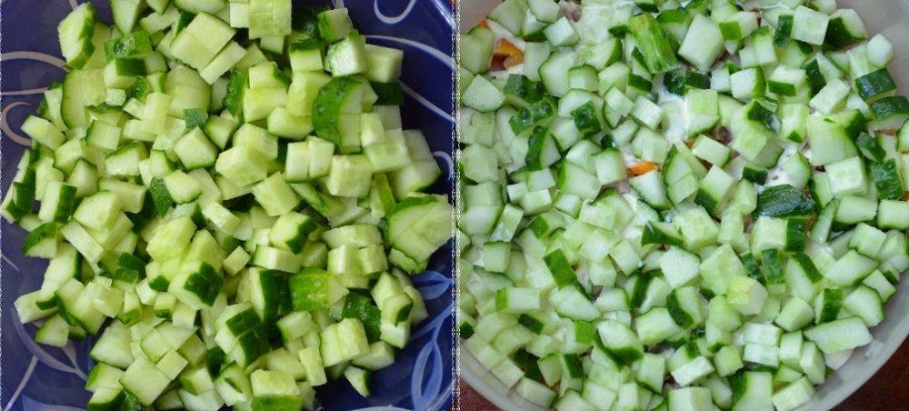 Огурцы для салата с корейской морковью