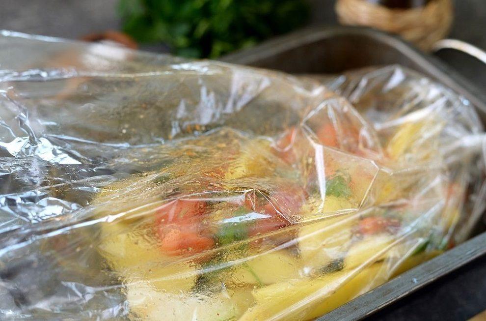 Овощи в рукаве для запекания