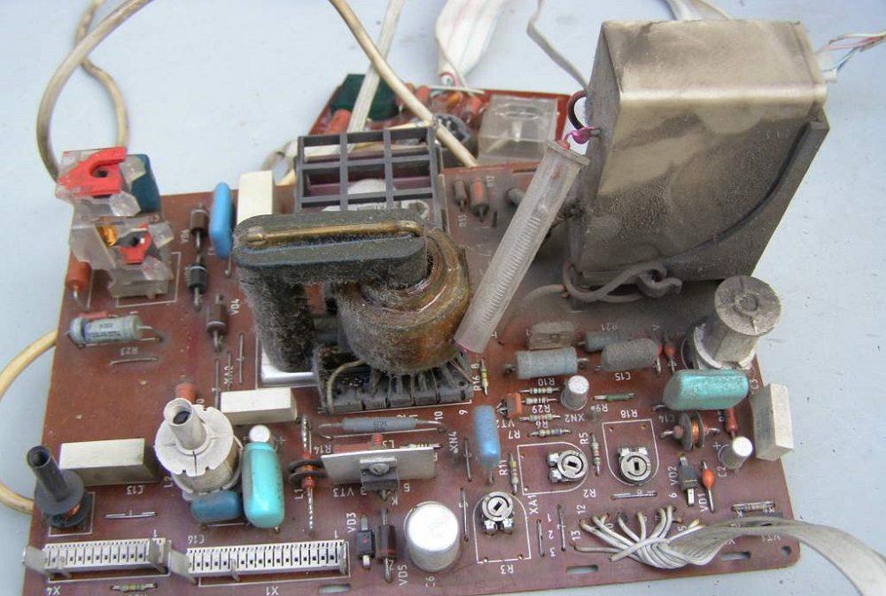 Развёртка старого телевизора