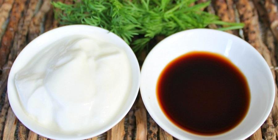 Соевый соус и сметана